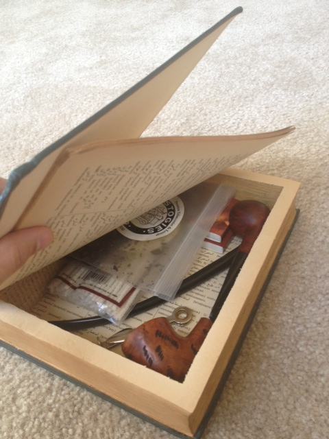 I made a hollow book pipe box helps to write